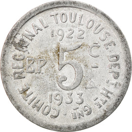 Coin, France, Union Latine, Comité du Sud-Ouest, Toulouse, 5 Centimes