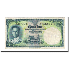 Banknote, Thailand, 1 Baht, Undated (1955), KM:74d, VF(20-25)