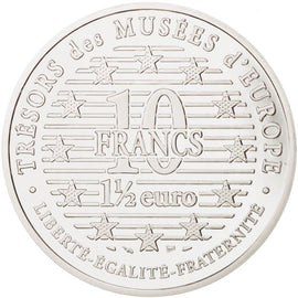 Coin, France, 10 Francs-1.5 Euro, 1996, Paris, MS(65-70), Silver, KM:1122