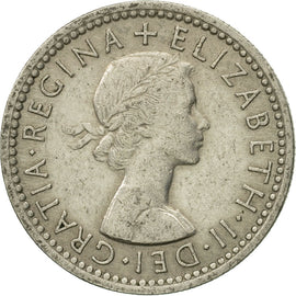 Coin, Great Britain, Elizabeth II, 6 Pence, 1954, EF(40-45), Copper-nickel