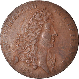 France, Token, Royal, Louis XIV, Paix de Ratisbonne, AU(50-53), Copper