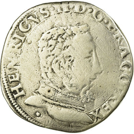 Coin, France, François II, Teston, 1560, Toulouse, F(12-15), Silver