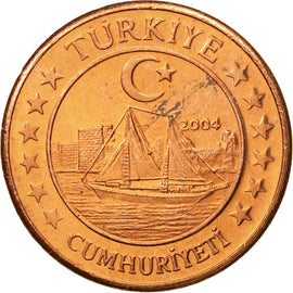 Turkey, Medal, Essai 1 cent, 2004, MS(63), Copper