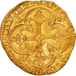 Coin, France, Franc à cheval, MS(60-62), Gold, Duplessy:294