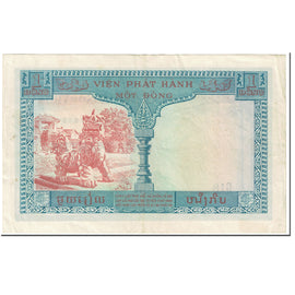 Banknote, FRENCH INDO-CHINA, 1 Piastre = 1 Dong, 1954, Undated (1954), KM:105