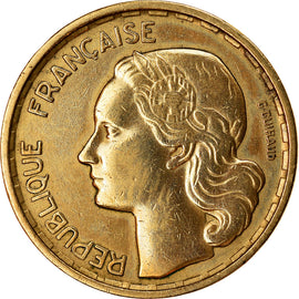 Coin, France, Guiraud, 10 Francs, 1958, Paris, EF(40-45), Aluminum-Bronze
