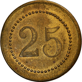 Coin, France, S.A.F., Uncertain Mint, 25 Centimes, AU(50-53), Brass