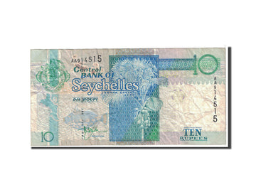 Banknote, Seychelles, 10 Rupees, 1983, Undated, KM:28a, VF(20-25)