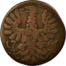 Coin, German States, AACHEN, 12 Heller, 1761, Achen, VF(30-35), Copper, KM:51