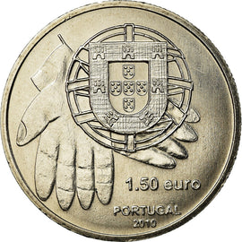 Portugal, 1-1/2 Euro, 2010, MS(63), Copper-nickel, KM:795