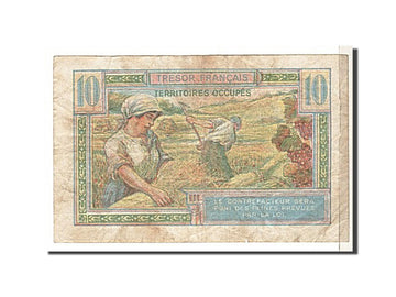 Banknote, France, 10 Francs, 1947 French Treasury, 1947, VG(8-10), Fayette:30.1