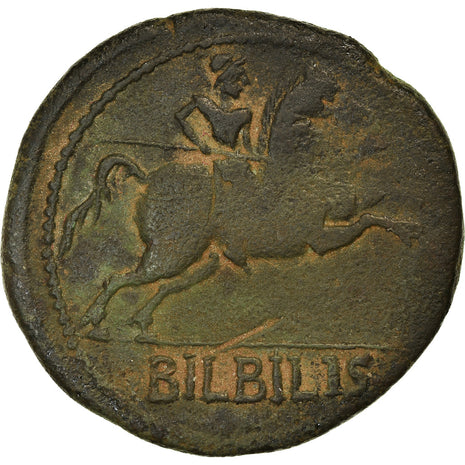 Coin, Spain, Augustus, As, 27 BC- AD 14, Bilbilis, VF(30-35), Bronze