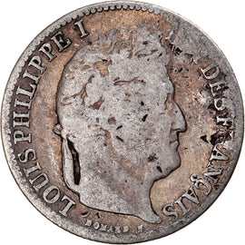 Coin, France, Louis-Philippe, 1/2 Franc, 1835, Lille, F(12-15), Silver