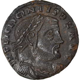 Coin, Licinius I, Follis, 312-313, Thessalonica, AU(50-53), Bronze, RIC:59