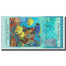 Banknote, French Pacific Territories, 5 Dollars, 2015, 2015-03-11, TAHITI