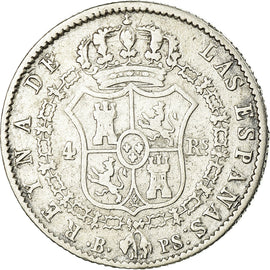 Coin, Spain, Isabel II, 4 Réales, 1844, Barcelona, VF(30-35), Silver, KM:519.1