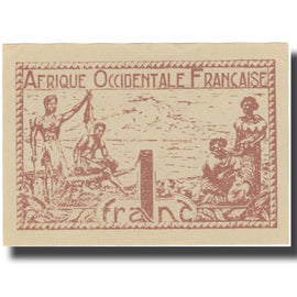 Banknote, French West Africa, 1 Franc, 1944, 1944, KM:34b, UNC(63)