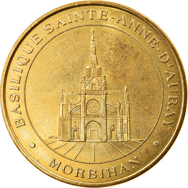 France, Token, Touristic token, Auray - Basilique, Arts & Culture, 1998, MDP