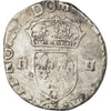 FRANCE, Quart Ecu, 1606, Bordeaux, VF(20-25), Silver, Sombart #4686, 7.85