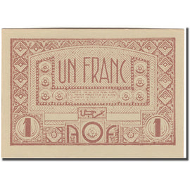 Banknote, French West Africa, 1 Franc, KM:34b, UNC(65-70)