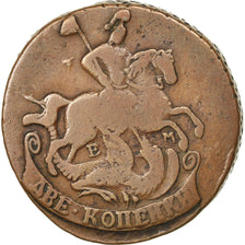 Coin, Russia, Catherine II, 2 Kopeks, 1765, Ekaterinbourg, VF(30-35), Copper