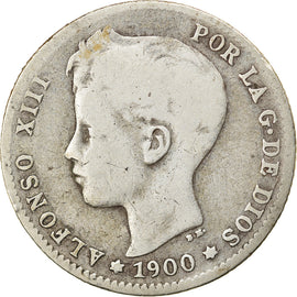 Coin, Spain, Alfonso XIII, Peseta, 1900, VF(30-35), Silver, KM:706