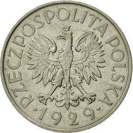 Coin, Poland, Zloty, 1929, Warsaw, EF(40-45), Nickel, KM:14