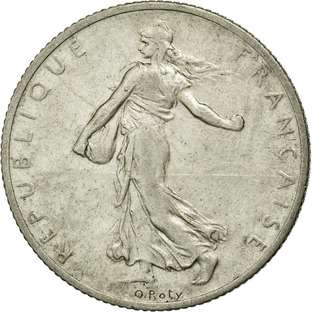Coin, France, Semeuse, 2 Francs, 1912, Paris, AU(50-53), Silver, Gadoury:532