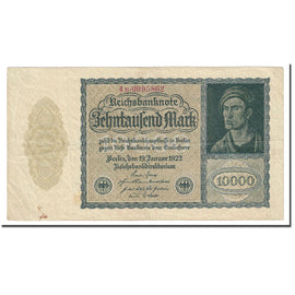 Banknote, Germany, 10,000 Mark, 1922, 1922-01-19, KM:71, VF(20-25)