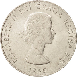 Coin, Great Britain, Elizabeth II, Crown, 1965, AU(55-58), Copper-nickel, KM:910