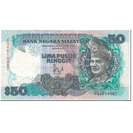 Banknote, Malaysia, 50 Ringgit, 1987, Undated (1987), KM:31, EF(40-45)