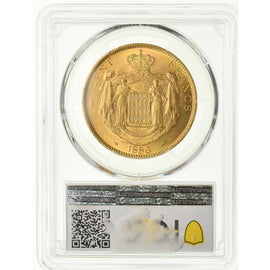 Coin, Monaco, Charles III, 100 Francs, Cent, 1886, Paris, PCGS, MS63+, Gold