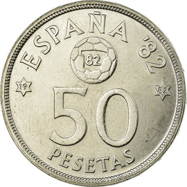 Coin, Spain, Juan Carlos I, 50 Pesetas, 1982, MS(63), Copper-nickel, KM:819