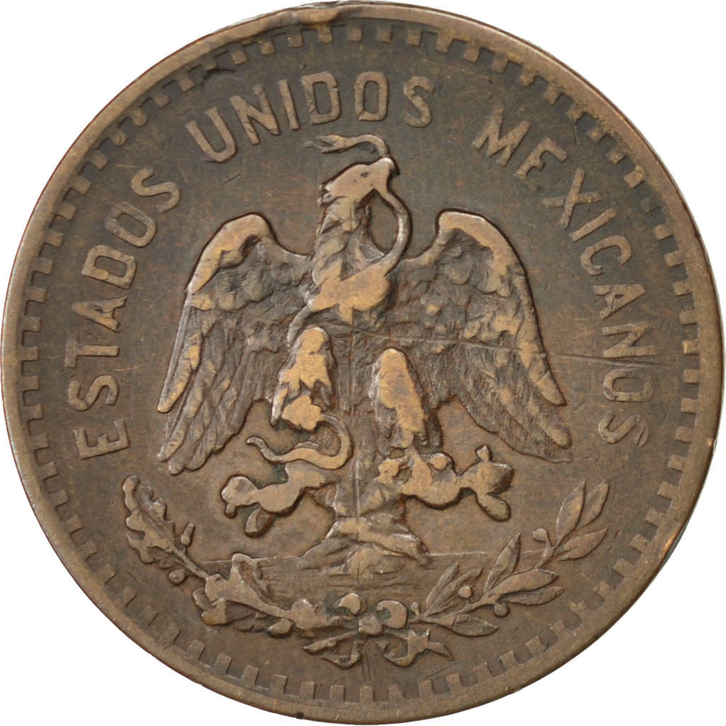 Coin, Mexico, 5 Centavos, 1918, Mexico City, EF(40-45), Bronze, KM:422