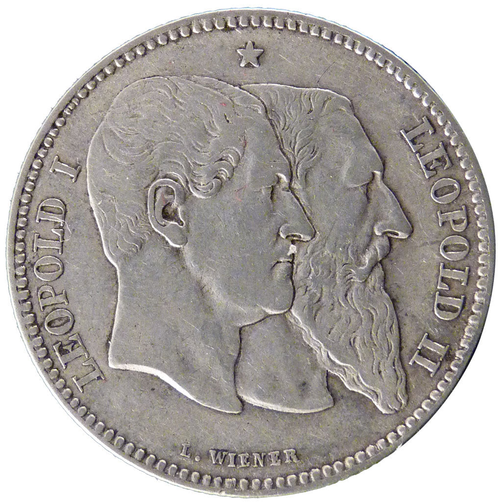 Coin, Belgium, Leopold II, 2 Francs, 2 Frank, 1880, VF(30-35), Silver, KM:39