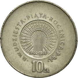 Coin, Poland, 10 Zlotych, 1969, AU(50-53), Copper-nickel, KM:61