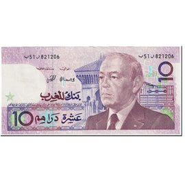 Banknote, Morocco, 10 Dirhams, 1987, 1991 (Old Date 1987/AH407), KM:63a