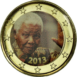 Private proofs / unofficial, 1 Euro, 2013, Nelson Mandela, MS(65-70)