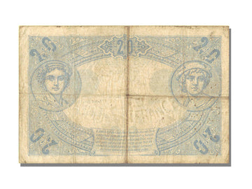 France, 20 Francs, 20 F 1905-1913 ''Bleu'', 1913, KM #68b, 1913-01-09,...
