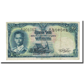Banknote, Thailand, 1 Baht, Undated (1955), KM:74a, EF(40-45)