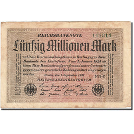 Banknote, Germany, 50 Millionen Mark, 1923, 1923-09-01, KM:109b, VF(20-25)