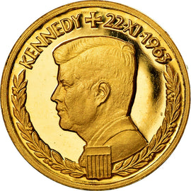 United States of America, Medal, 1/2 Ducat, John Kennedy, 1963, MS(65-70), Gold