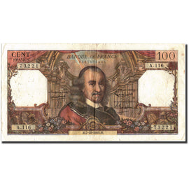 Banknote, France, 100 Francs, 100 F 1964-1979 ''Corneille'', 1965, 1965-10-07