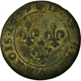 Coin, France, Double Tournois, 1659, Troyes, F(12-15), Copper