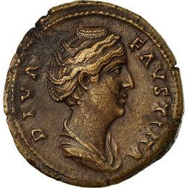 Coin, Faustina I, As, 147, Roma, EF(40-45), Copper, RIC:1171