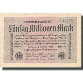 Banknote, Germany, 50 Millionen Mark, 1923, 1923-09-01, KM:109b, AU(55-58)