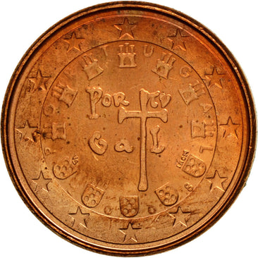 Portugal, Euro Cent, 2008, MS(63), Copper Plated Steel, KM:740