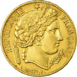 Coin, France, Cérès, 20 Francs, 1849, Paris, AU(50-53), Gold, KM:762