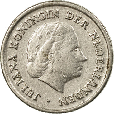 Coin, Netherlands, Juliana, 10 Cents, 1950, EF(40-45), Nickel, KM:182