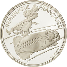 Coin, France, 100 Francs Olympics, 1990, MS(65-70), Silver, KM 981
